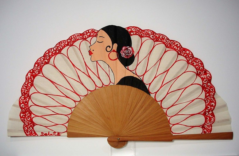 Abanico flamenco La dama de negro