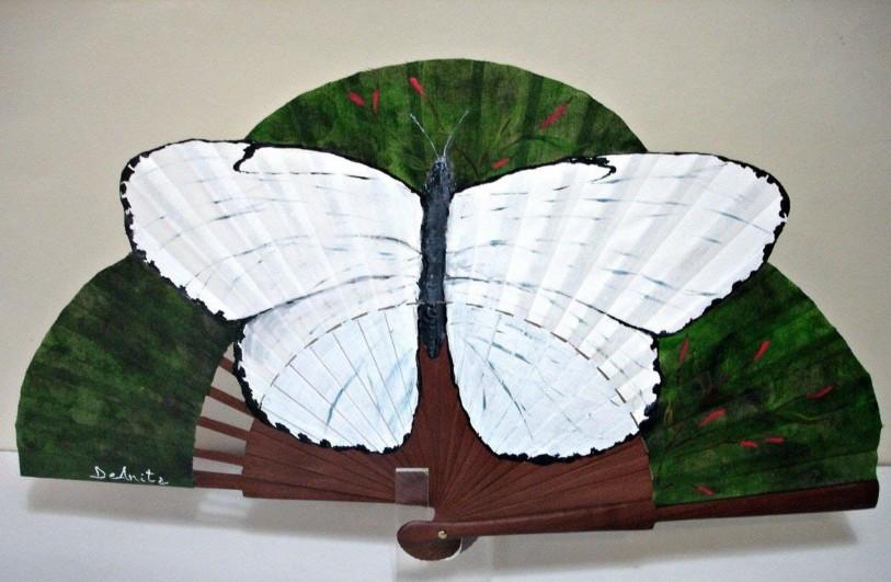 Abanico floral La mariposa