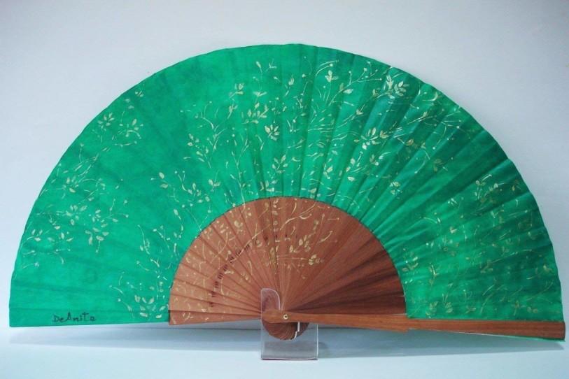 Abanico floral Medio Pericón verde esmeralda