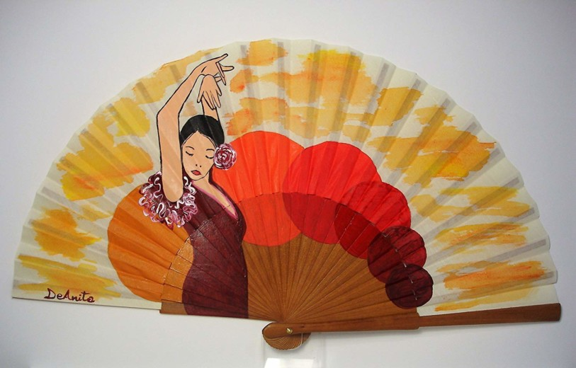 Abanico flamenco Bailando por Bulerías