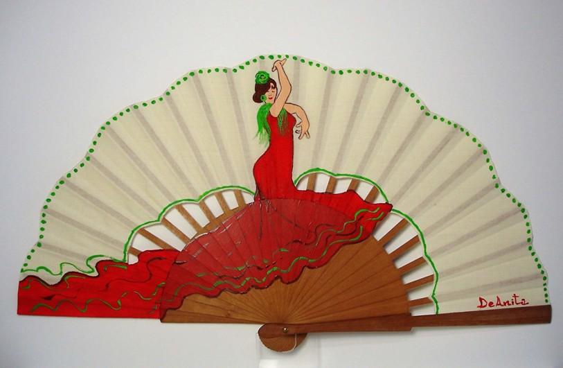 """Abanico flamenco """"Rita la Bailaora"""""""