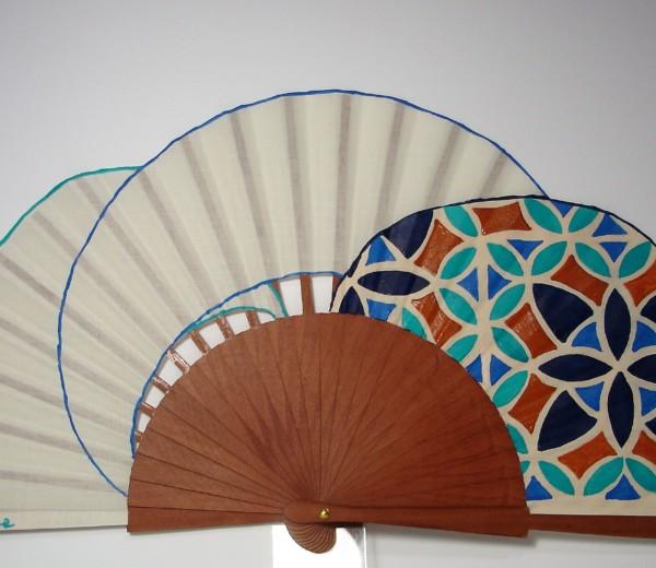 Mosaico en tonos azules